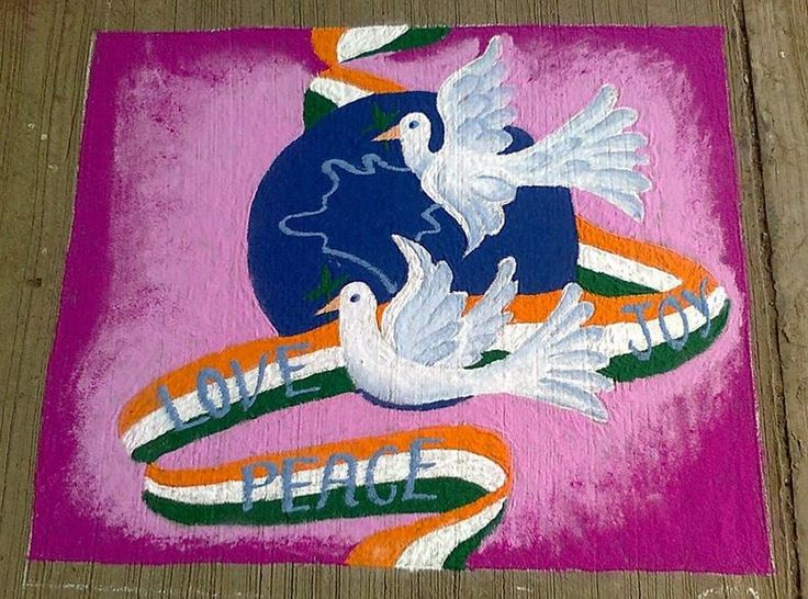 Amazing-Rangoli-Design-Idea-For-Independence-Day-Of-India The Ultimate List: 50+ Ideas for India Republic Day Celebration
