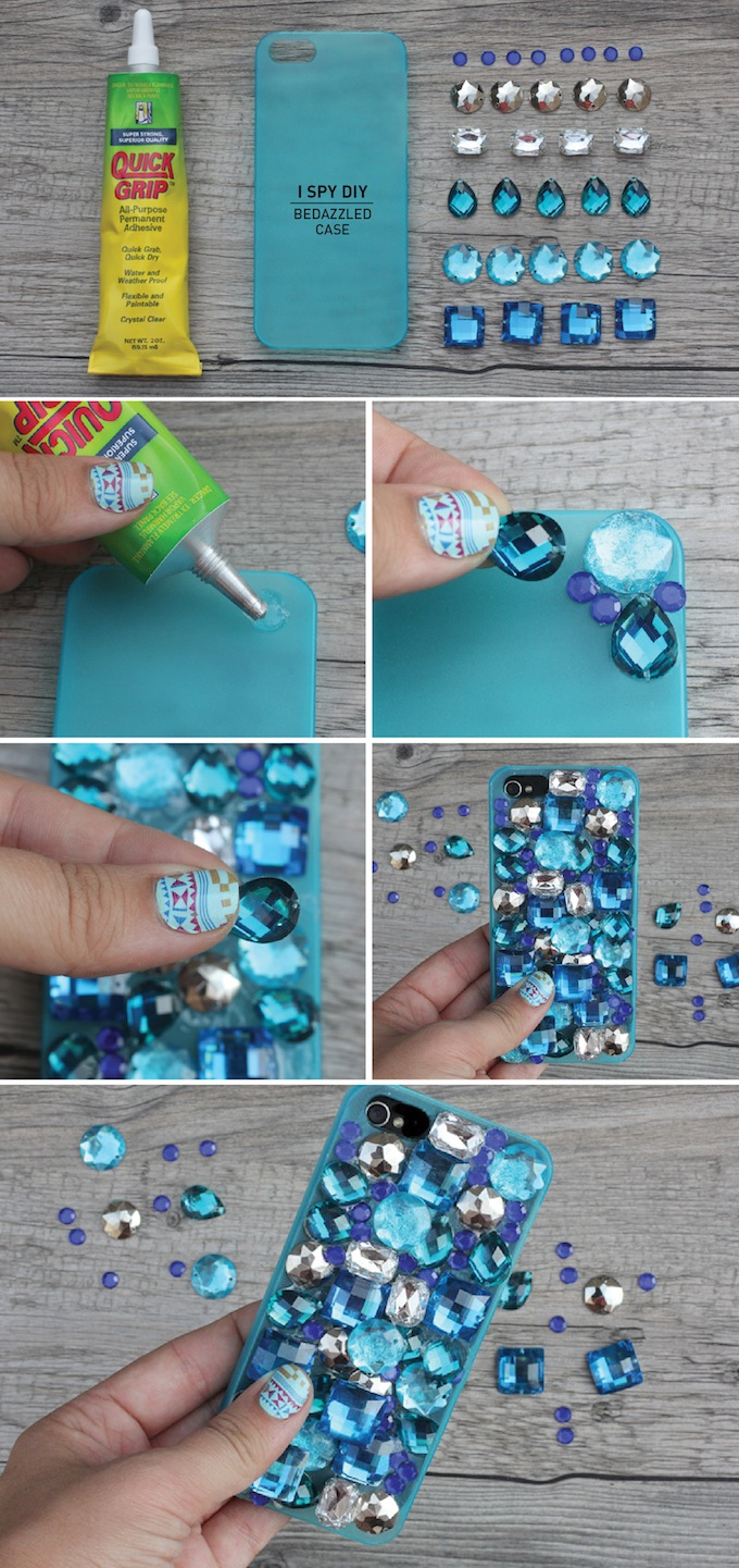 BEDAZZLED Mobile Phone CASE Easy Mobile Phone Case Decoration Ideas - Step by step