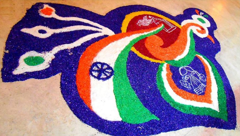 Beautiful-Independence-Day-Of-India-Rangoli-Design-Idea The Ultimate List: 50+ Ideas for India Republic Day Celebration