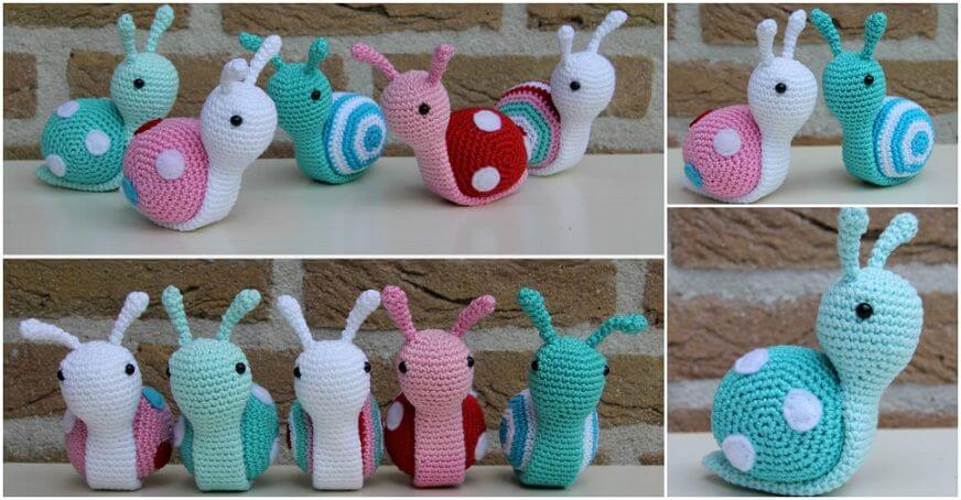 DIY-Crochet-Snail-Step-by-Step-Instructions DIY Crochet ideas for Beginners - Step by step