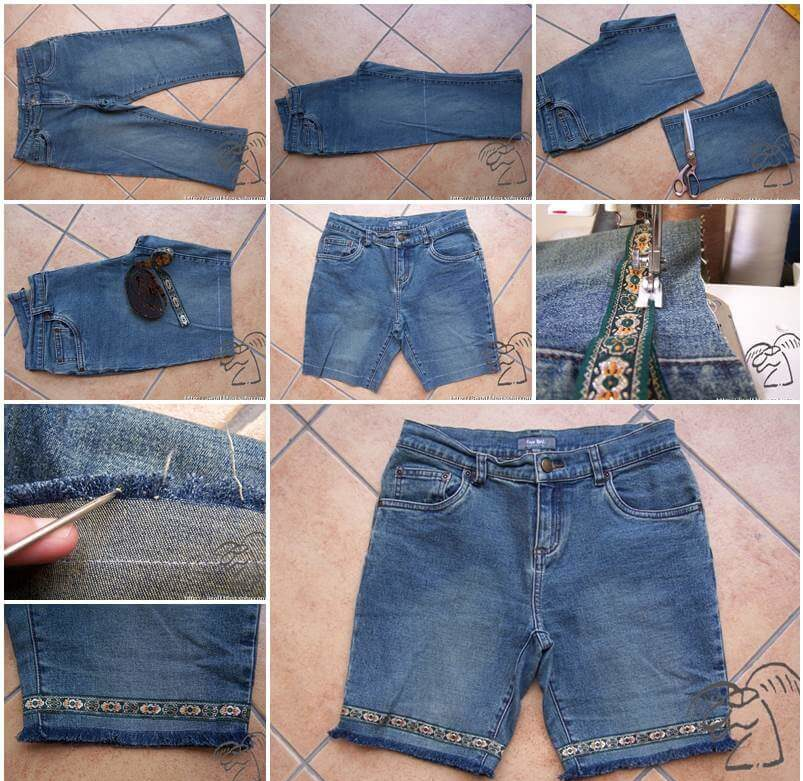 DIY Stylish Shorts from Old Jeans Awesome DIY Ideas To Renew Your Old Jeans (Trendy Fashion)
