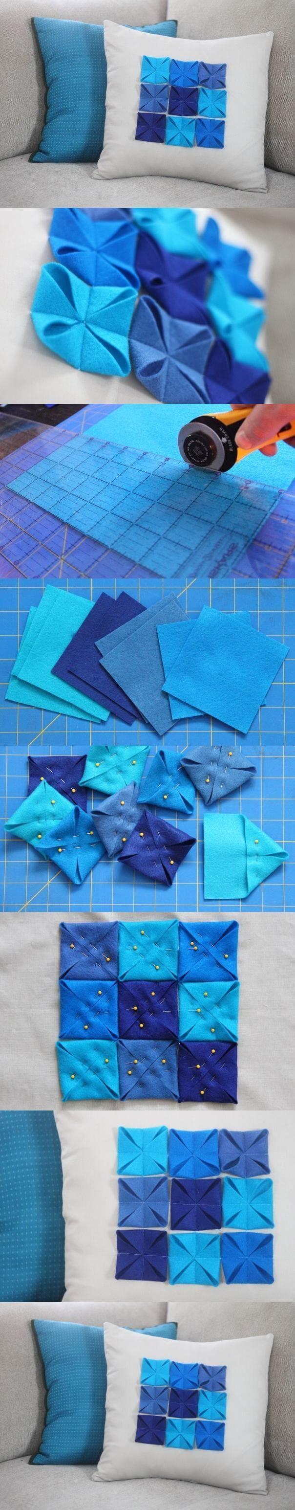 DIY felt Cushion Cover idea Stylish DIY Pillow Craft Ideas - Step by step