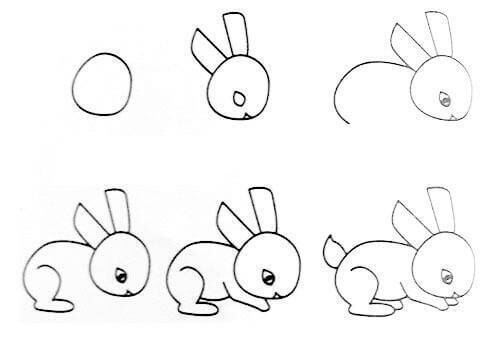 Drawing Easy Animal (rabbit) Drawing Lessons: Easy Step by Step Drawing Tutorials