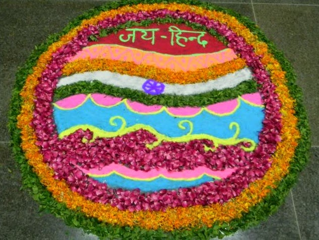 Flowers-Rangoli-Design-For-Independence-Day The Ultimate List: 50+ Ideas for India Republic Day Celebration