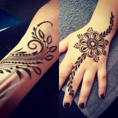 flowers-and-leaves-arabic-mehndi-designs Beautiful Arabic Mehndi Latest Designs [2020]
