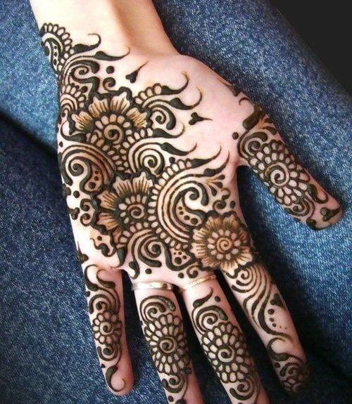 flowers-and-swirls-arabic-mehndi-designs Beautiful Arabic Mehndi Latest Designs [2020]