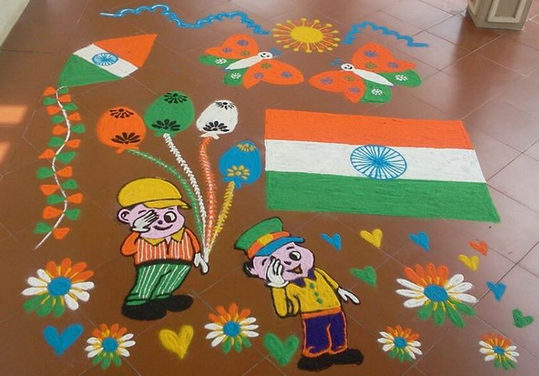 Independence-Day-Of-India-Themed-Rangoli-Design The Ultimate List: 50+ Ideas for India Republic Day Celebration