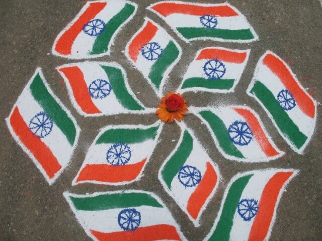 India-Flag-Rangoli The Ultimate List: 50+ Ideas for India Republic Day Celebration