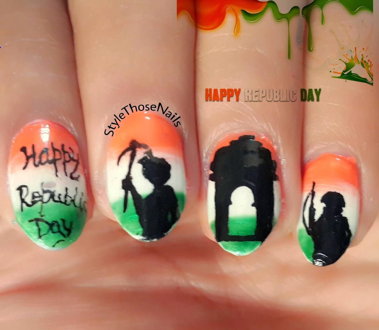 India Tri Color nail art The Ultimate List: 50+ Ideas for India Republic Day Celebration