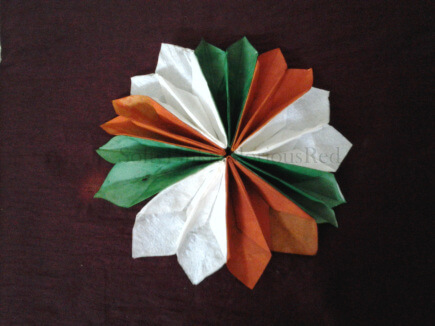 India Tri Color paper flower The Ultimate List: 50+ Ideas for India Republic Day Celebration