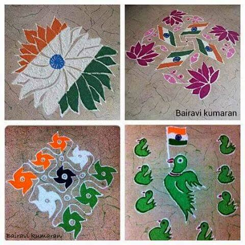 India Tri Color rangoli art The Ultimate List: 50+ Ideas for India Republic Day Celebration