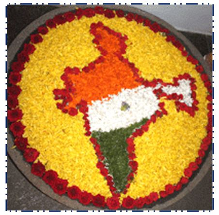 Indian-Map-Flowers-Rangoli-Design-For-Independence-Day The Ultimate List: 50+ Ideas for India Republic Day Celebration
