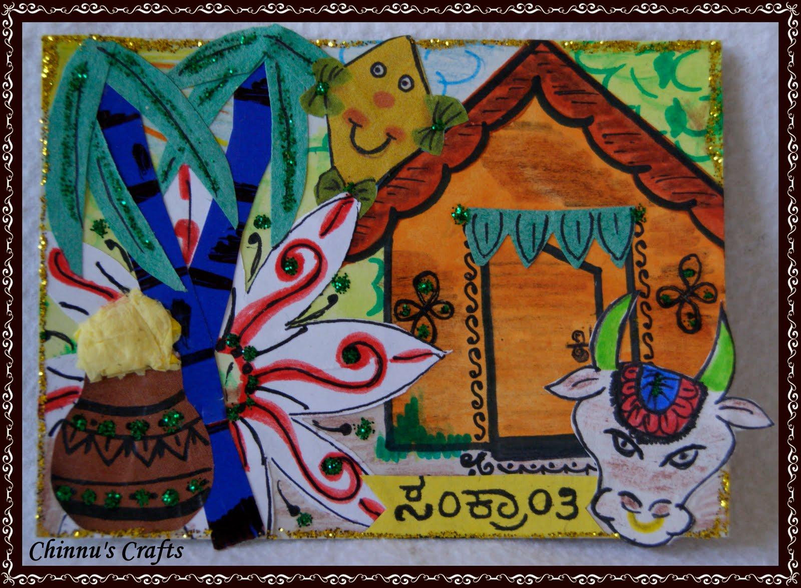 Beautiful Lohri themed drawing Beautiful Craft ideas for Lohri Festival
