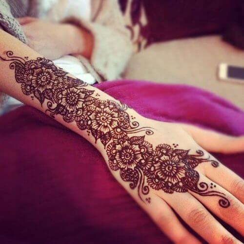 pretty-flowers-arabic-mehndi-designs Beautiful Arabic Mehndi Latest Designs [2020]