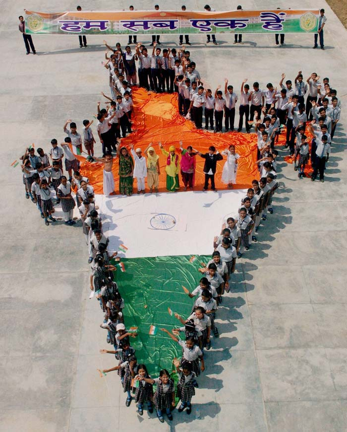 School-Kids-Making-Indian-Map-Celebrating-Independence-Day-Of-India The Ultimate List: 50+ Ideas for India Republic Day Celebration