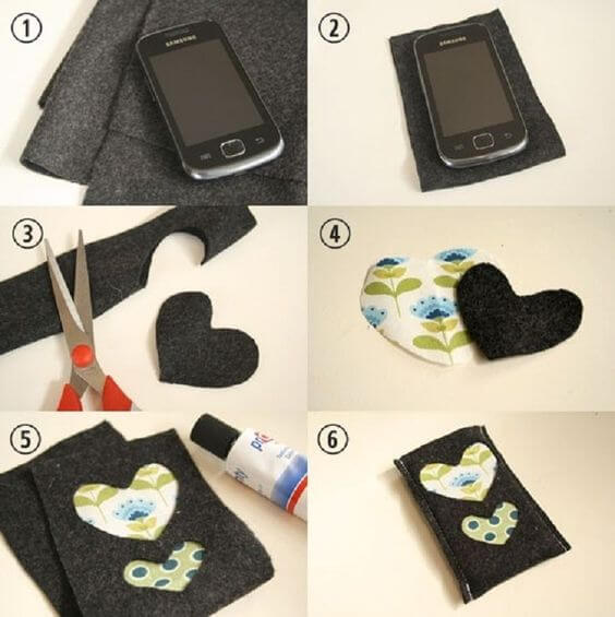 diy-phone-case-felt-cover Easy Mobile Phone Case Decoration Ideas - Step by step