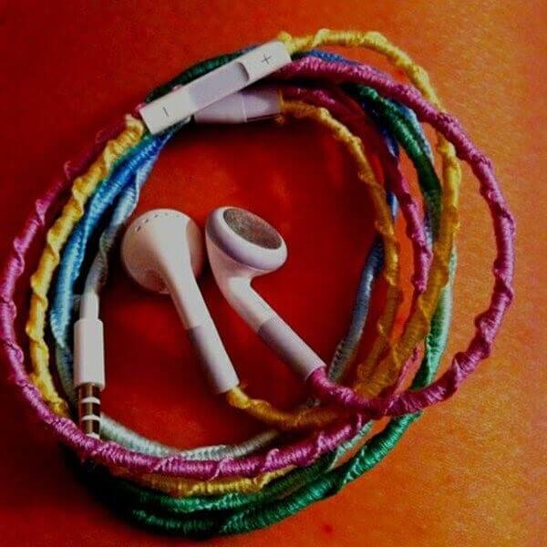 earphone-DIY WRAPPED STYLED EARPHONES
