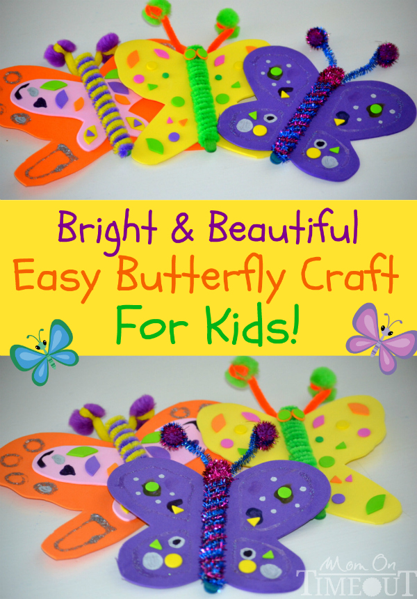 easy-butterfly-craft-for-kids Simple Foam Sheet Craft Ideas - Step by step