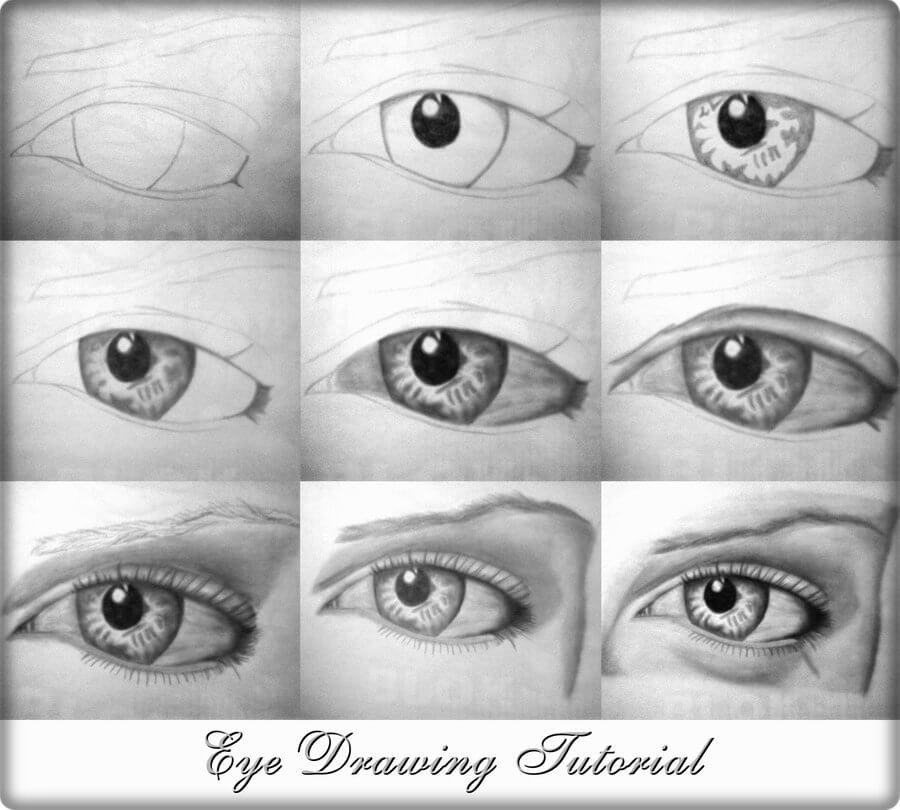 eye drawing tutorial by alexmahone Drawing Lessons: Easy Step by Step Drawing Tutorials