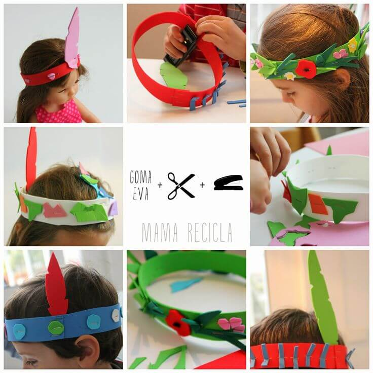 headbands and crowns from foam shees Simple Foam Sheet Craft Ideas - Step by step