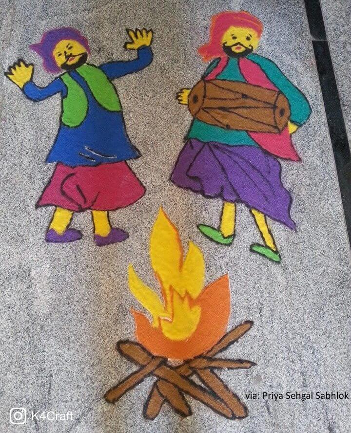 Celebrating Lohri scenes Beautiful Craft ideas for Lohri Festival