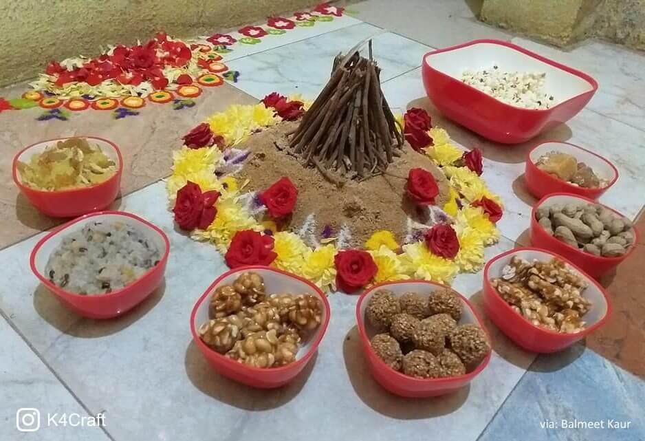 Beautiful Lohri scene craft Beautiful Craft ideas for Lohri Festival