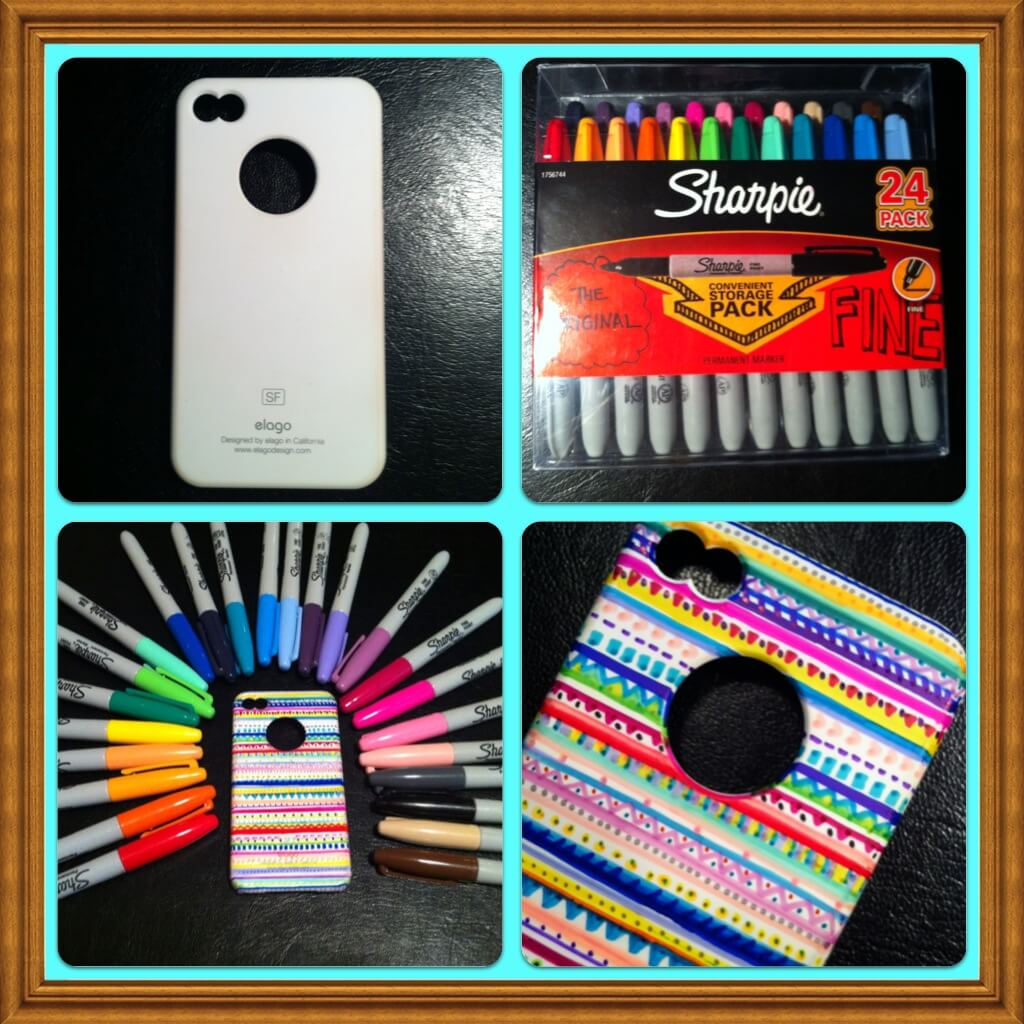 mobile-case-decor-using-Pencil-Ball-Pen Easy Mobile Phone Case Decoration Ideas - Step by step