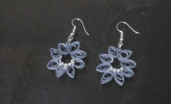 quilling-earing-Christmas Ornament : Quilling Flower  Earrings