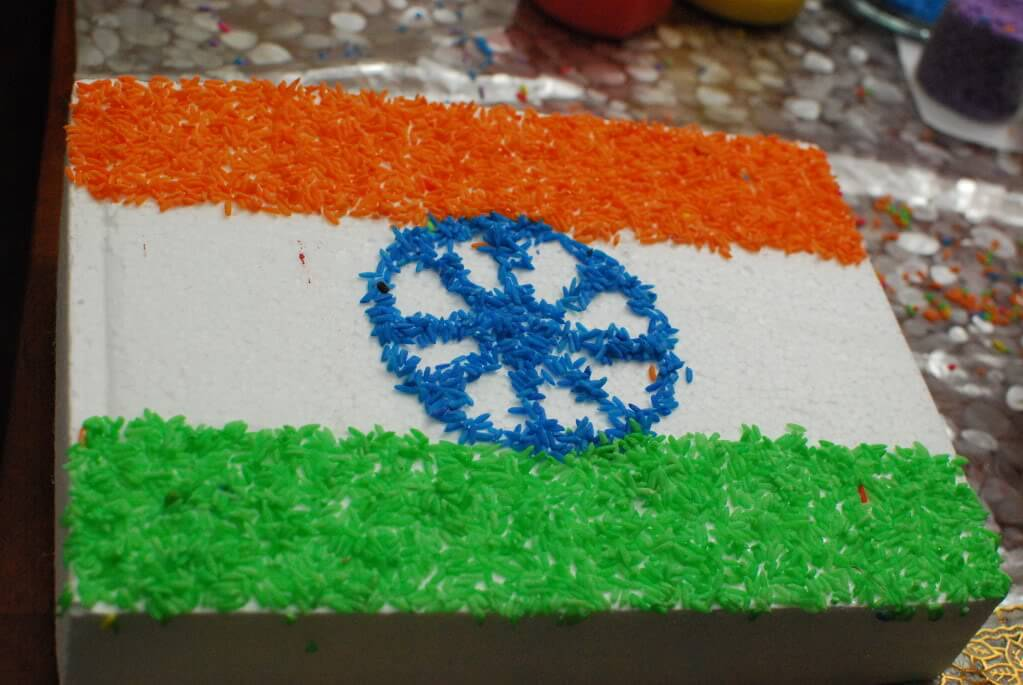 rice art of India Tri Color flag The Ultimate List: 50+ Ideas for India Republic Day Celebration