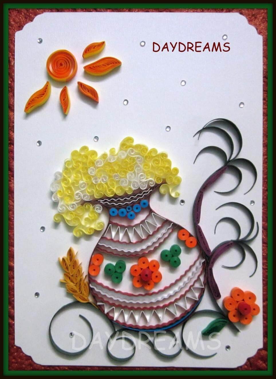 sankranti-card Creative Craft Ideas for Makar Sankranti / Pongal