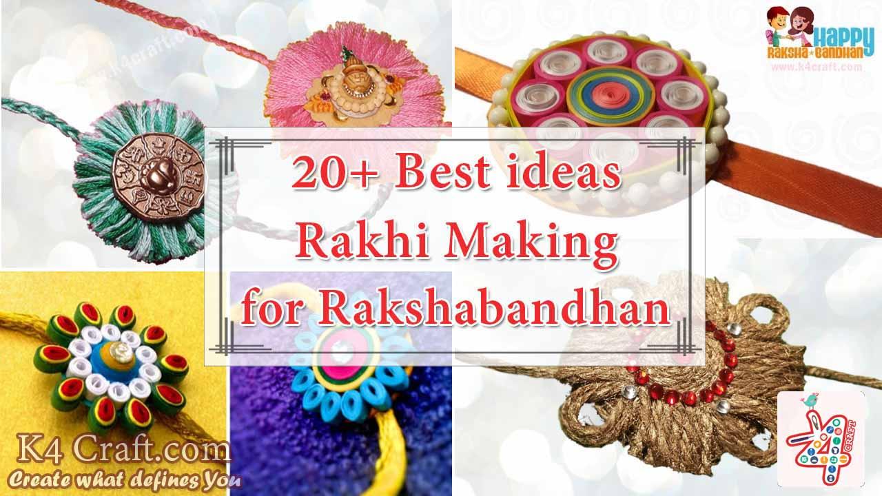 Video Tutorial: 20+ Best ideas to make Rakhi at home for Rakshabandhan