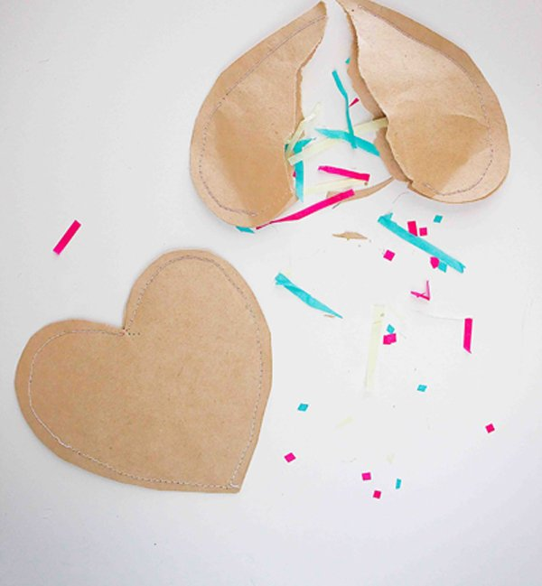 Confetti-Paper-Hearts 30+ Easy Valentine's Day Crafts for Kids