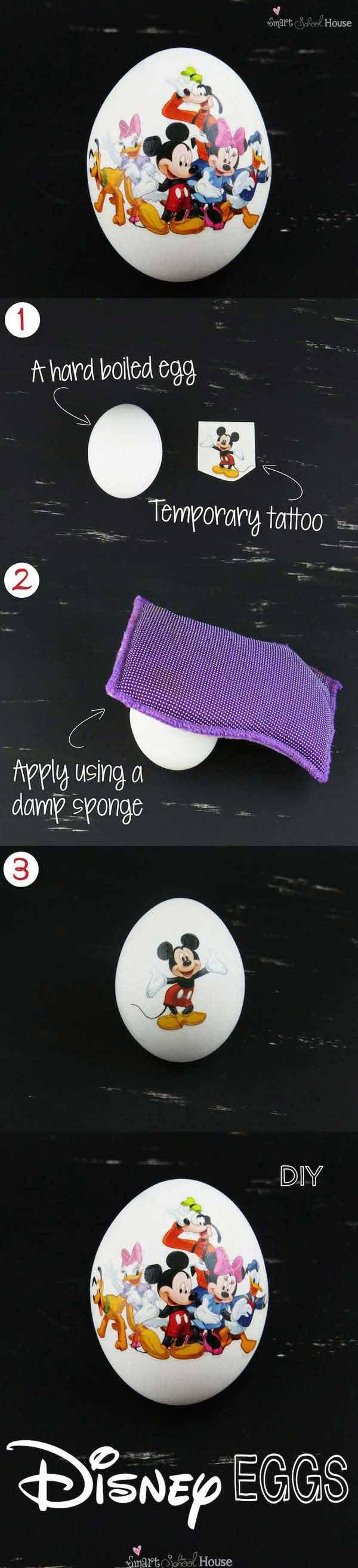 Disney-eggs-Easter-Crafts-for-Kids DIY Cute and Creative Easter Crafts For Kids