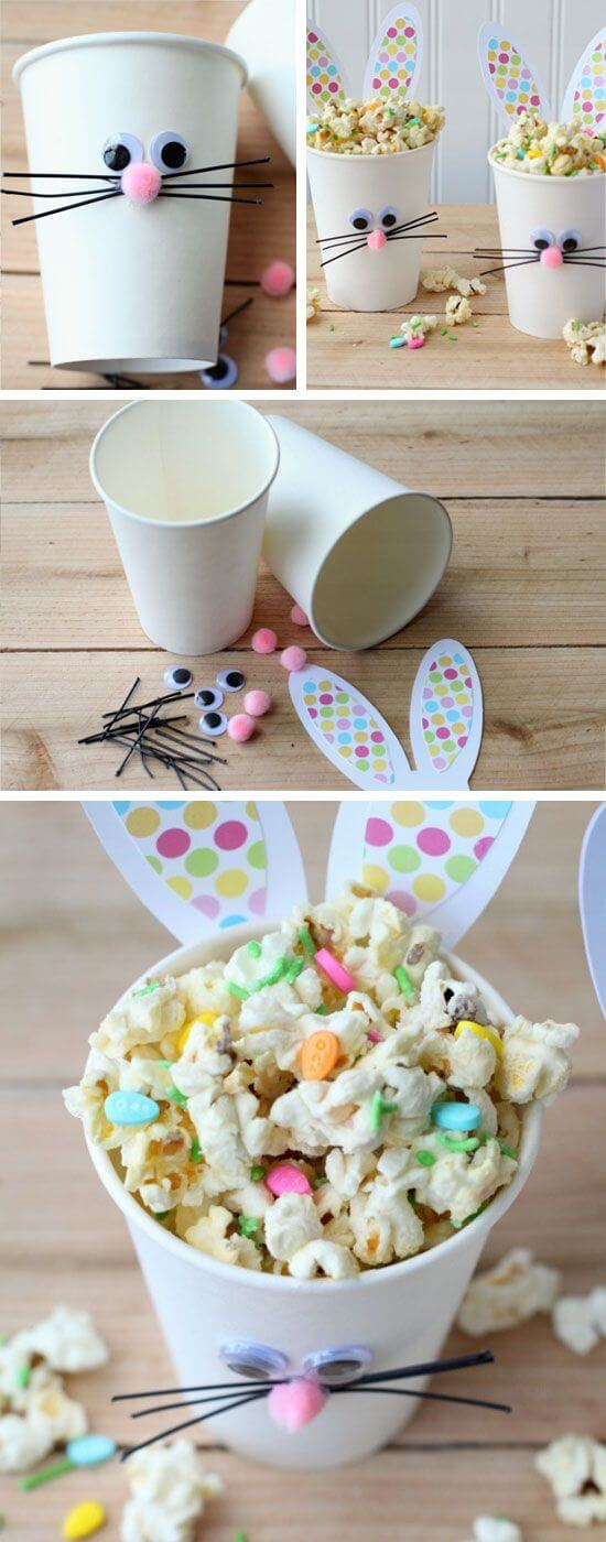 Easter Bunny Cups and Bunny Bait DIY Cute and Creative Easter Crafts For Kids