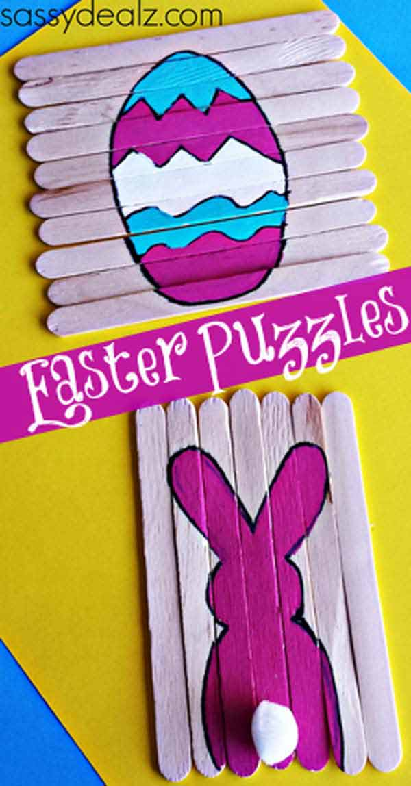 Easter-Puzzles-Crafts DIY Cute and Creative Easter Crafts For Kids