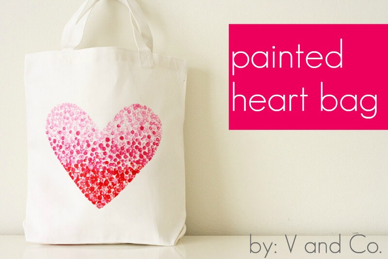 Painted-Heart-Bag 30+ Easy Valentine's Day Crafts for Kids