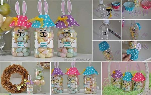 RECYCLE-PLASTIC-BOTTLES-Easter-Crafts DIY Cute and Creative Easter Crafts For Kids