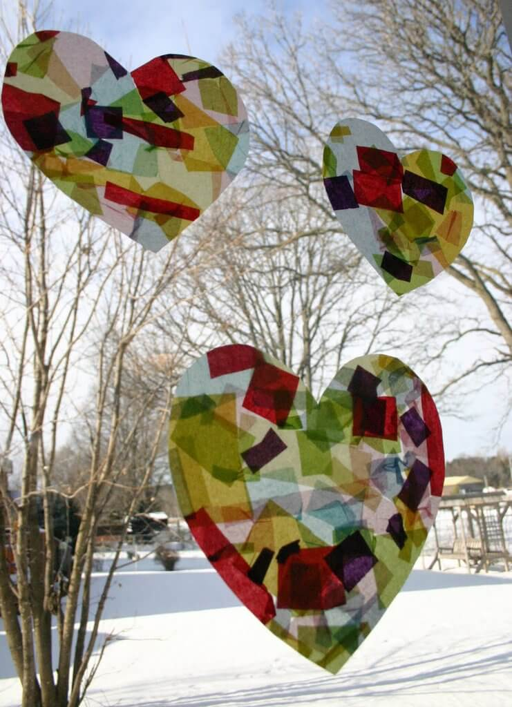 Sun-Catchers 30+ Easy Valentine's Day Crafts for Kids