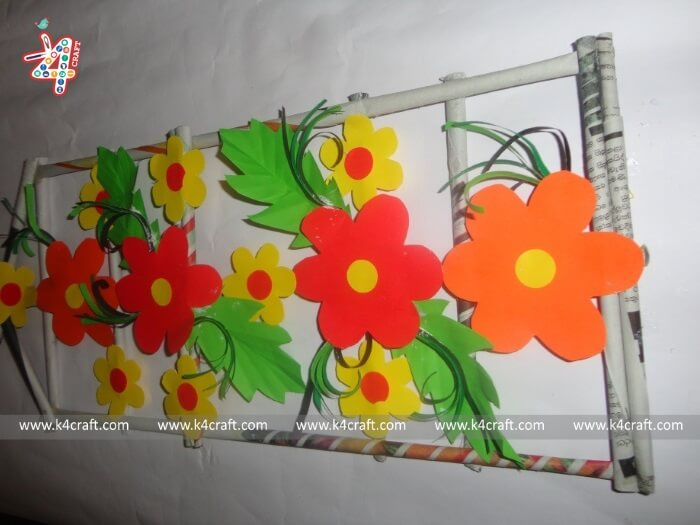 home-decor-wall-hanging-RECYCLED: Home decor wall hanging using Newspaper