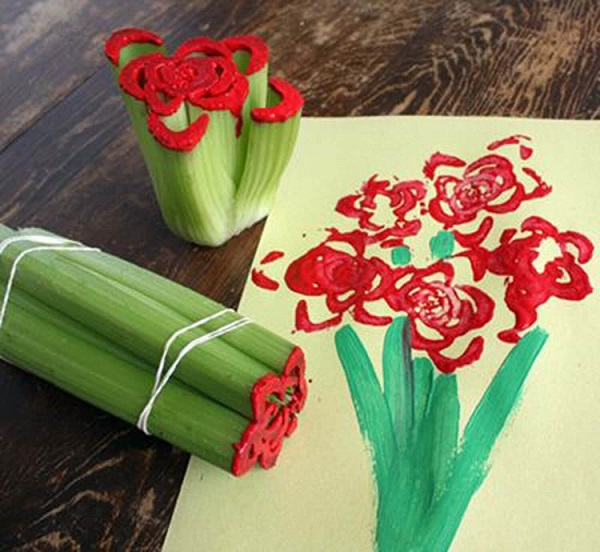 kids-flower-drawing-art 30+ Easy Valentine's Day Crafts for Kids
