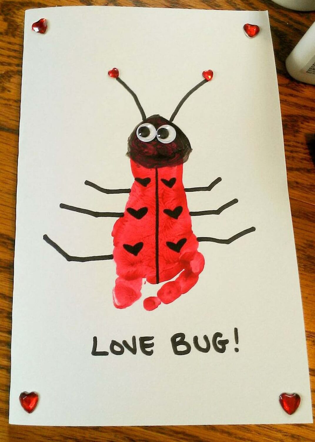 love-bug-card 30+ Easy Valentine's Day Crafts for Kids