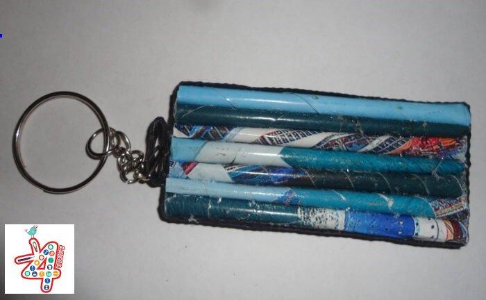 DIY: How to make 'Key tag' using magazine / Newspaper