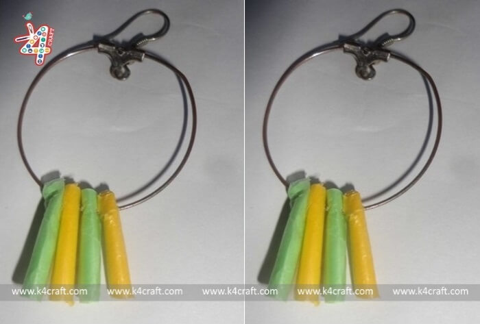 paper-decorated-earrings-RECYCLED: How to make artificial jewelries using shopping bags (Tutorial)
