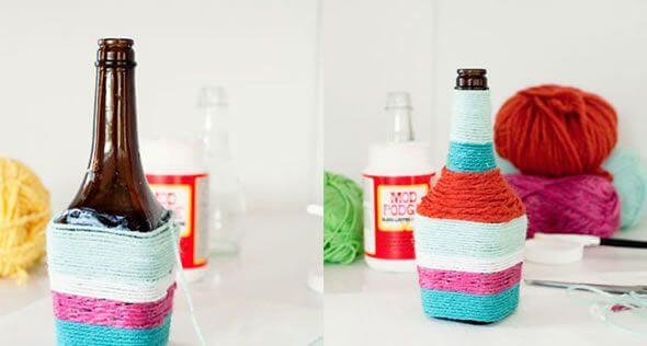 DIY-Cute-Glass-Bottle-Vases-DIY Cute Recycled Glass Bottle vases (Tutorial)