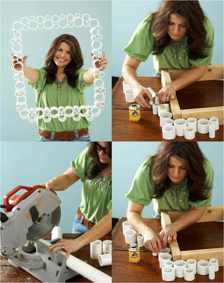 DIY-PVC-pipe-photo-frame-crafts DIY Creative Uses Of PVC Pipes - Step by step