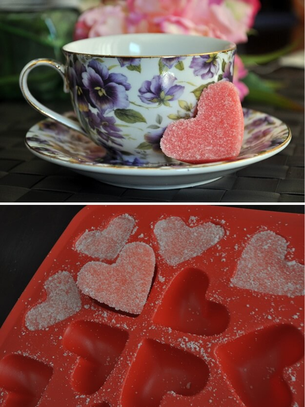 DIY-Pink-Sugar-Hearts-k4craft Clever DIY Projects: Creative way to Use of Ice Cube Tray