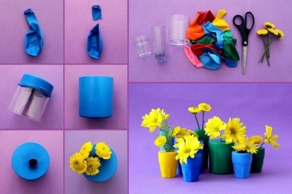 Easy-Crafts-Using-Balloons- Amazing Crafts Using Balloons - Fun Projects