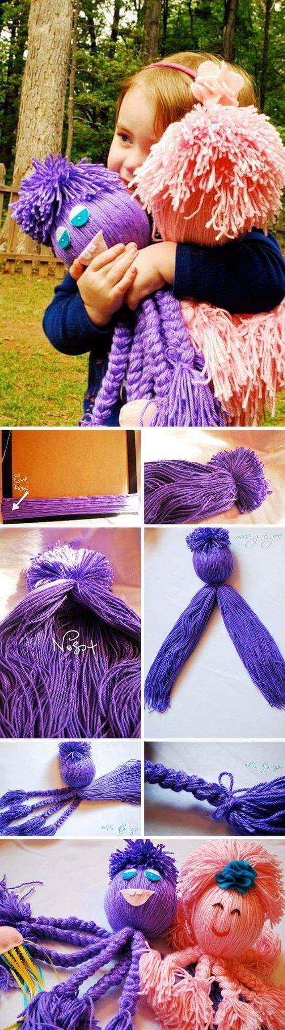 Fleece-Octopus-diy-yarn-craft-k4craft Awesome DIY Yarn Projects (Easy) - Step by step