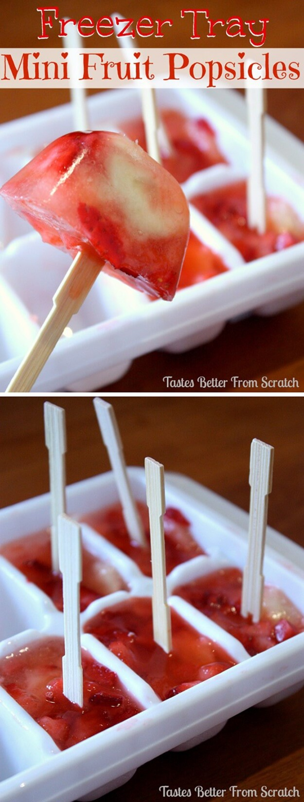 Freezer-Tray-Mini-Fruit-Popsicles-k4craft Clever DIY Projects: Creative way to Use of Ice Cube Tray
