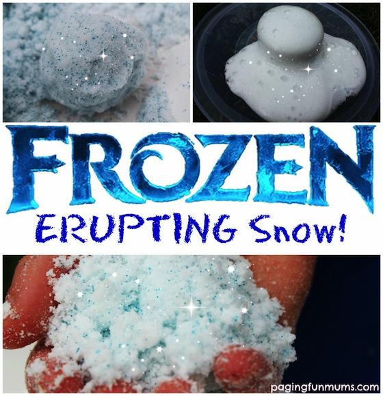 Frozen-Erupting-Snow FROZEN Kids Craft Activities & Tutorial